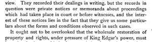 ''Notices'' regarding property and rights