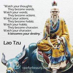 Thought, words, actions, habits,Character, Destiny