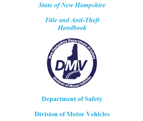 State of New Hampshire Title and Anti-Theft Handbook